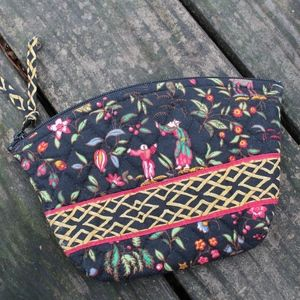Vintage Vera Bradley Asian Zippered Cosmetic Pouch